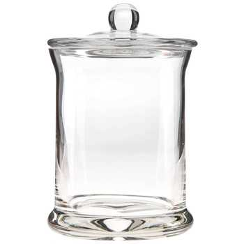 "Round Glass Jar - 5 1/2"" x 3 1/2"""